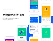 Digital wallet app UI/UX