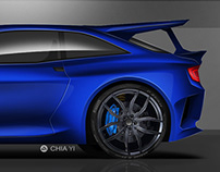 Ford Escort RS cosworth homage concept