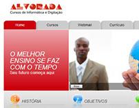 Site institucional: AlvoradaWeb