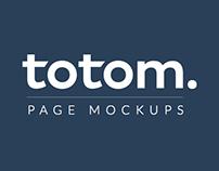 TOTOM: Page Mockups