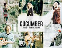 Free Cucumber Mobile & Desktop Lightroom Presets