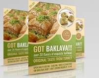 Baklava Flyer Template