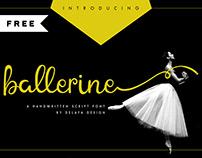 FREE | Ballerine Handwritten Script