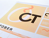 Typographic Calendar - October