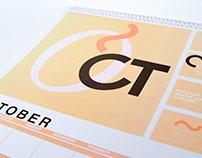 Typographic Calendar - October