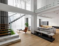 "Penthouse interior design ""CUBE-33"""