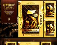 Golden Anniversary V2 Flyer Template