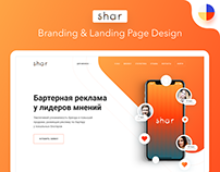 Shar Branding & Landing Page Design