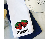 SWEET AND FRUITY STRAWBERRIES APPLIQUE EMBROIDERY DESIG