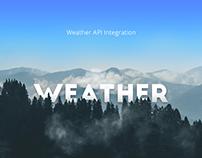 Weather API ingegration