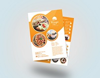 Orange Food Menu Flyer Template Design #3