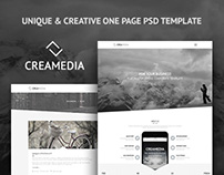 Creamedia - Creative One Page PSD template