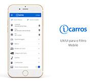 iCarros - UX/UI Filtros Mobile