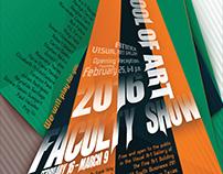 UTRGV SOA Faculty Show 2016 Poster