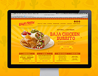 WebDesign - BAJA FRESH / EAT WELL. LIVE FRESH