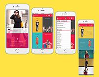 Mobile e-commerce webdesign