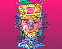 Cyber Punk Character Illustration