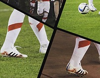 Boots specially painted for Fernando Cavenaghi.