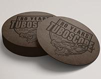 Tuboscope 80th Leather Coaster