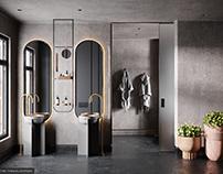 The Dark Forest Bathroom