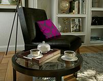 Bookshelf and Living