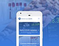 Delhi Covid Care • Web & Mobile App for Delhi Govt