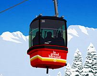 Le Grand Bornand Ski Poster