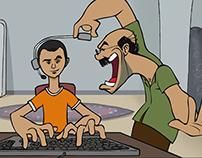 '' 3abarny shokran '' short animation movie