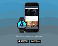Social Mob Radio UI design