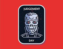 Terminator 2 Sticker/Badge Design