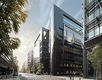 Black Pearl Office Building / Full CG