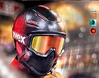Ski Helmet and Goggles Uvex