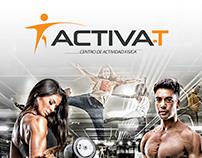 Pendon Publicitario para gimnasio Activa-t