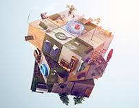 Sodimac Home Center -Rubik Cube