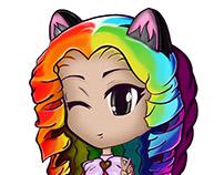 Ilustração e personagem para LoliMe - Moda Lolita