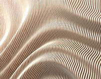 Ripple Wall - Conceptual Parametric CNC Work