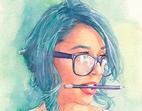 Tianna watercolor
