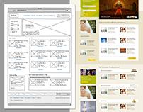 Wireframe and webdesign for wedding management website
