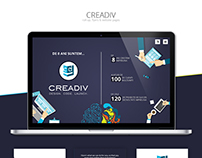 CREADIV - Roll - Up, Flyers, Website Pages