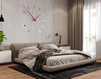 Big minimalistic bedroom