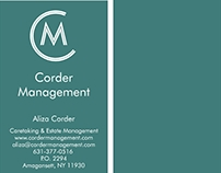 Corder Management Business Cards