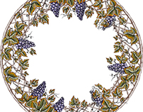 Williams Sonoma Plates Illustrated by Steven Noble