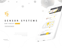 New design concept for Sensor Systems home page