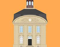 Rochefort, bâtiments historiques.