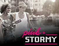Pink + Stormy Logo