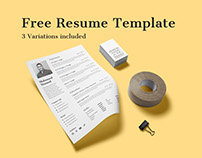 Free Minimal Resume Template (3 Variations)