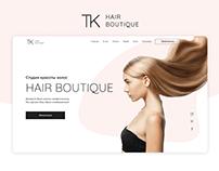 Hair Boutique - Landing Page