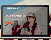 Free E- commerce landing page Design