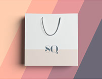 Square Bag Mockup - PSD