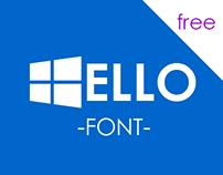 Windowsoft - A free Windows icon inspired font.